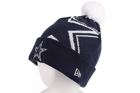 Amazon.com   Dallas Cowboys Woven Biggie Cuffed Knit Cap With White ... 75ecc3e80430