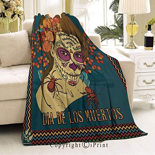 (Flannel Fleece Microfiber Blanket,Living Room/Bedroom Warm Blanket,51