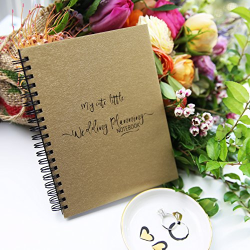 My Cute Little Wedding Planning Notebook Gold Metallic Paperboard Journal - 7