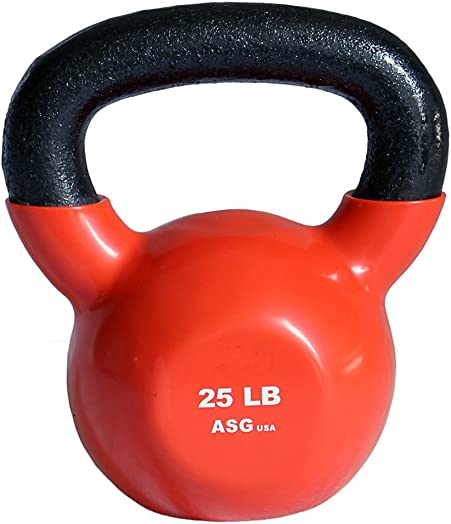 Ader Vinyl Coated Durable Kettlebells 25LB-50LB