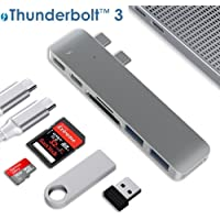 ALLEASA 2018 Macbook Pro Type USB C Adapter with Thunderbolt