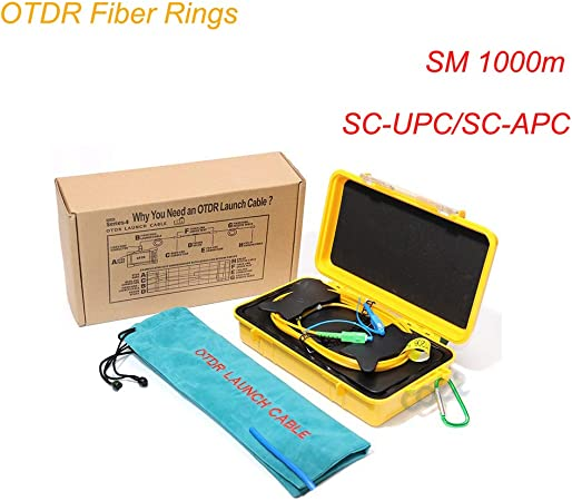 LC APC-LC APC Single Mode 9//125um 1310//1550nm 1KM OTDR Launch Cable Box Ring
