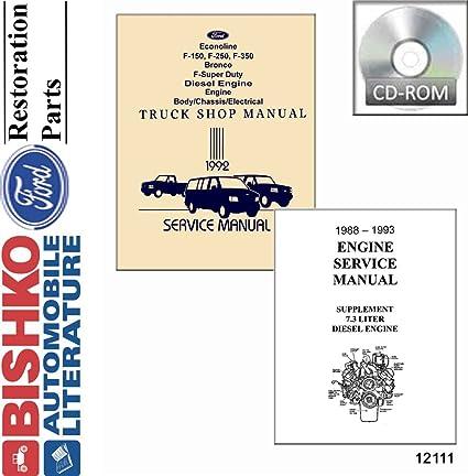 1993 Ford Truck Bronco Econoline Shop Service Repair Manual Engine Drivetrain OE