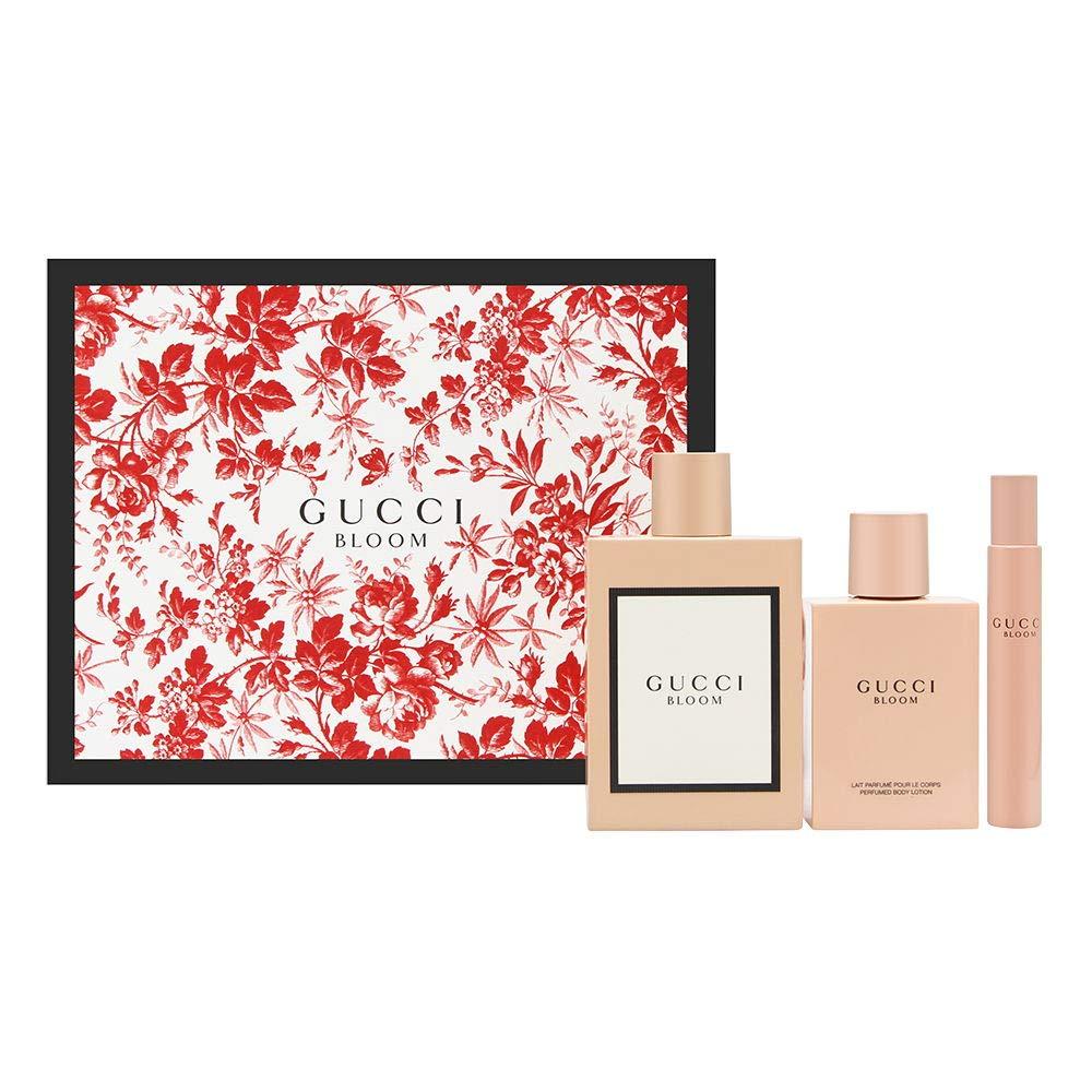 Gucci Bloom for Women 3 Piece Set Includes: 3.3 oz Eau de Parfum Spray + 3.3 oz Body Lotion + 0.25 oz Eau de Parfum Fragrance Pen