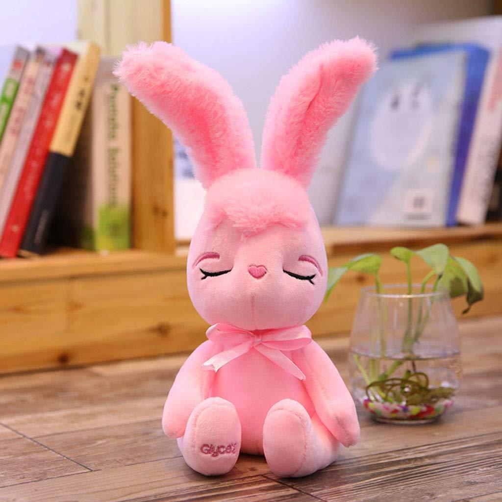 Pink 40CM Creative New Sitting Version Blinking Rabbit Plush Toy Doll Infant Educational Toys Girls Birthday (color   White, Size   50CM)