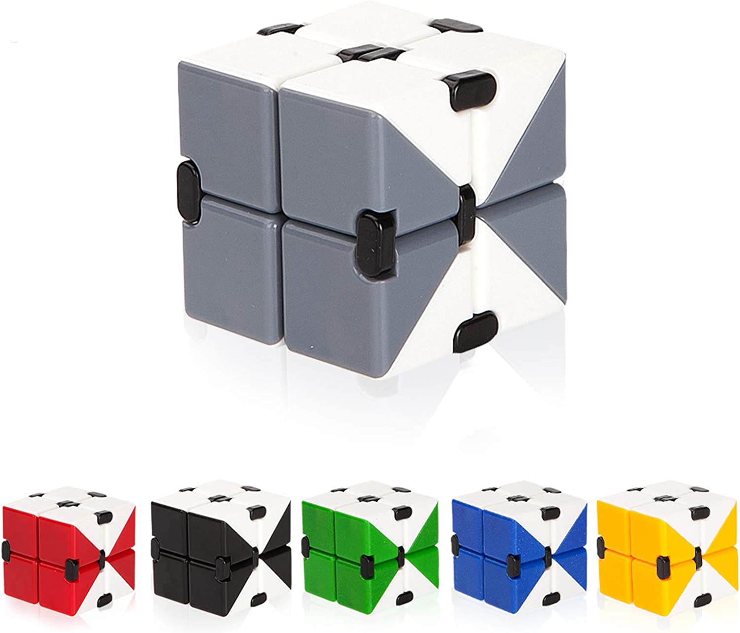 Stress Relieving Fidgeting Game for Kids and Adults Mini Magic Toys Unique Gadget for Anxiety Relief and Relax Time TEEMOON Infinity Cube Fidget Toy Pink