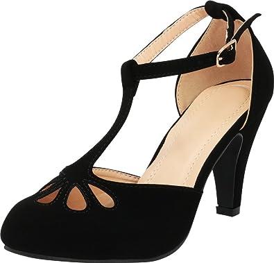 Amazon.com: Cambridge Select Mary Jane - Zapatos de tacón ...