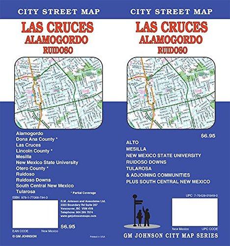 Las Cruces / Alamogordo / Ruidoso, New Mexico Street Map