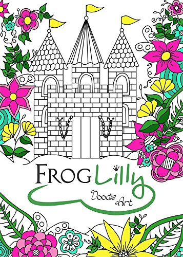 FrogLilly Doodle Adult Coloring Book product image