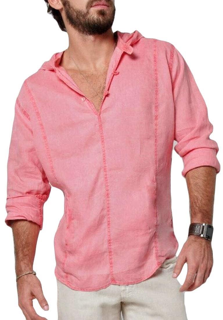 Mens Long Sleeve Henley Shirt Beach Yoga Loose Fit Henleys Tops
