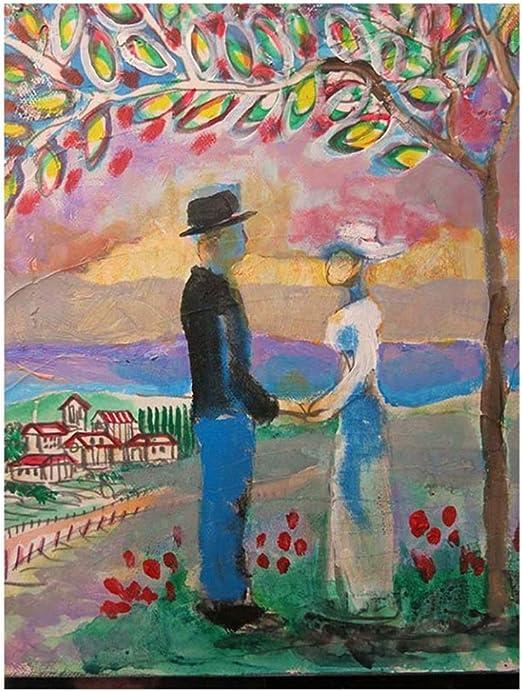 arteWOODSPintura al óleo clásica Masculino y Femenino Que