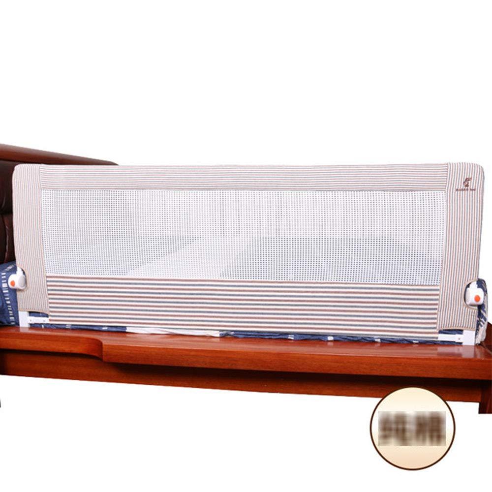 ZR- 子供の落下防止用手すり、ベッドサイドガードレール、ベッドフェンスの高さ68 Cm (色 : Brown-200cm)  Brown-200cm B07LDYY8M3