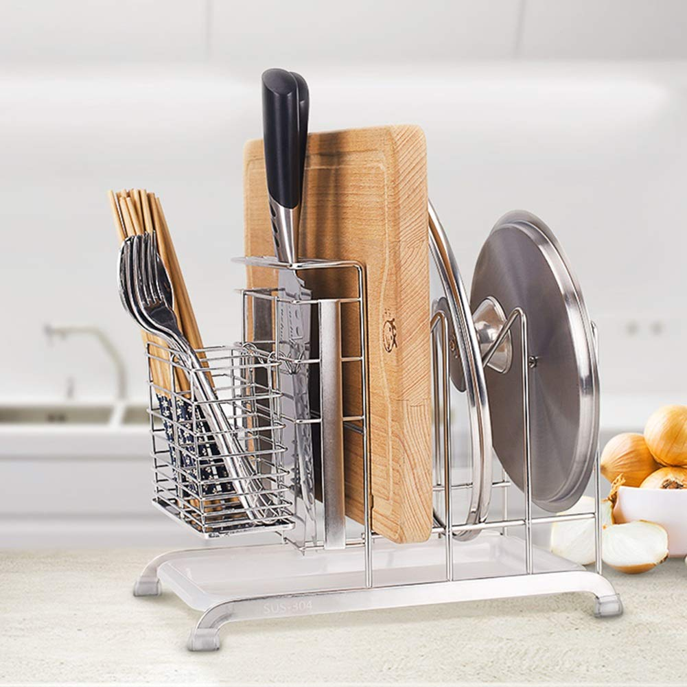 Shelf Storage Racks Pot Rack Storage Basket Shelf Baskets Kitchen Stainless Steel Storage Rack Tool Chopping Rack Cutlery Multifunction 2917.525cm ZHAOYONGLI by ZHAOYONGLI-shounajia (Image #3)
