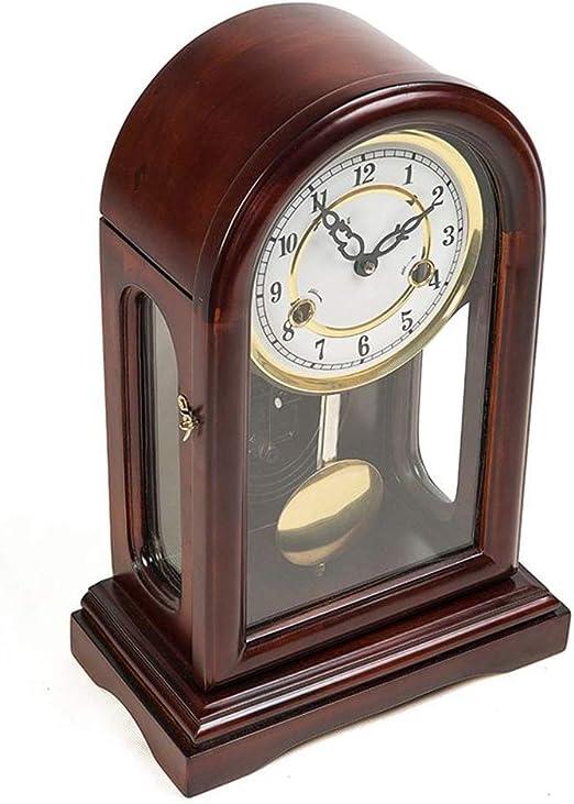 Reloj de Mesa mecánico - Reloj de Reloj Antiguo de Madera Maciza ...