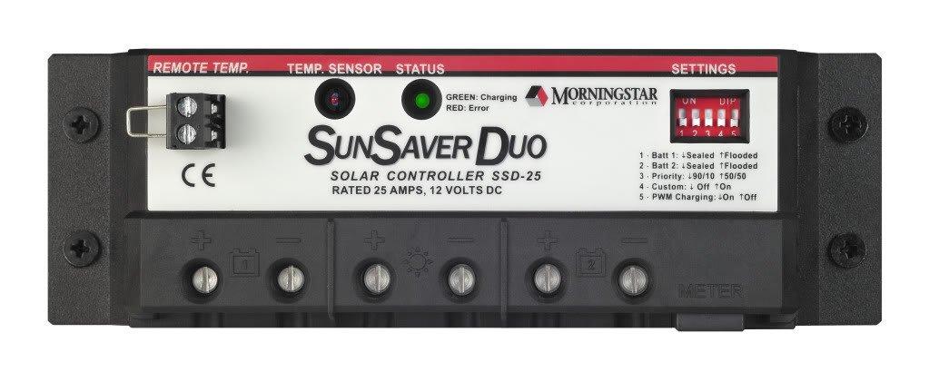 Morningstar SSD-25 Sunsaver-Duo 25 Amp by Morning Star