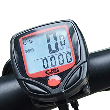 Heart Service Bike Speedometer Waterproof Wireless Bicycle Bike Computer  and Cycling Odometer Multi-Function LCD Backlight Display