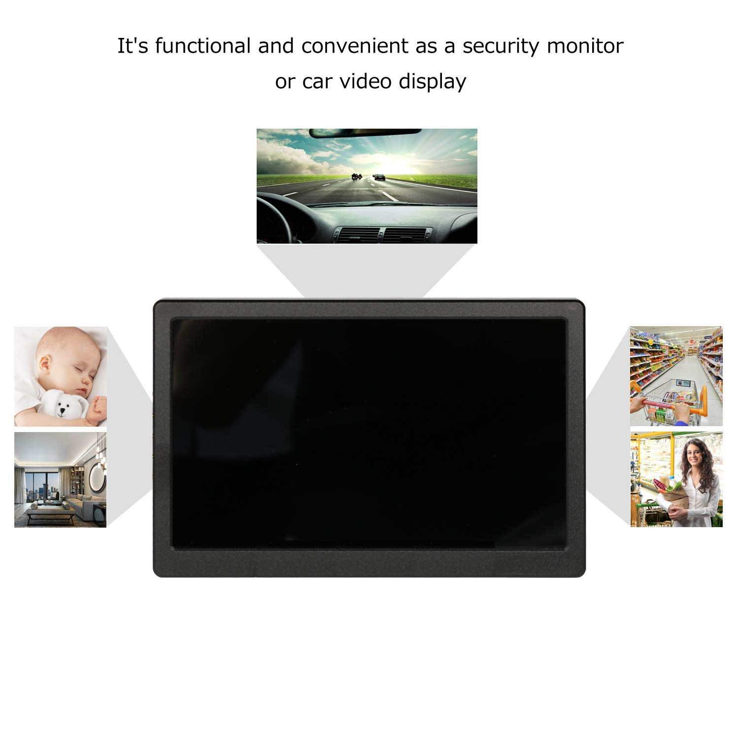 Portable Screen HDMI Monitor 1024×600 IPS Portable Display Monitor Built in Speaker for Raspberry Pi Computer Laptop PS3 PS4 Xbox one Ns xbox360 Black by UPERFECT (Image #6)
