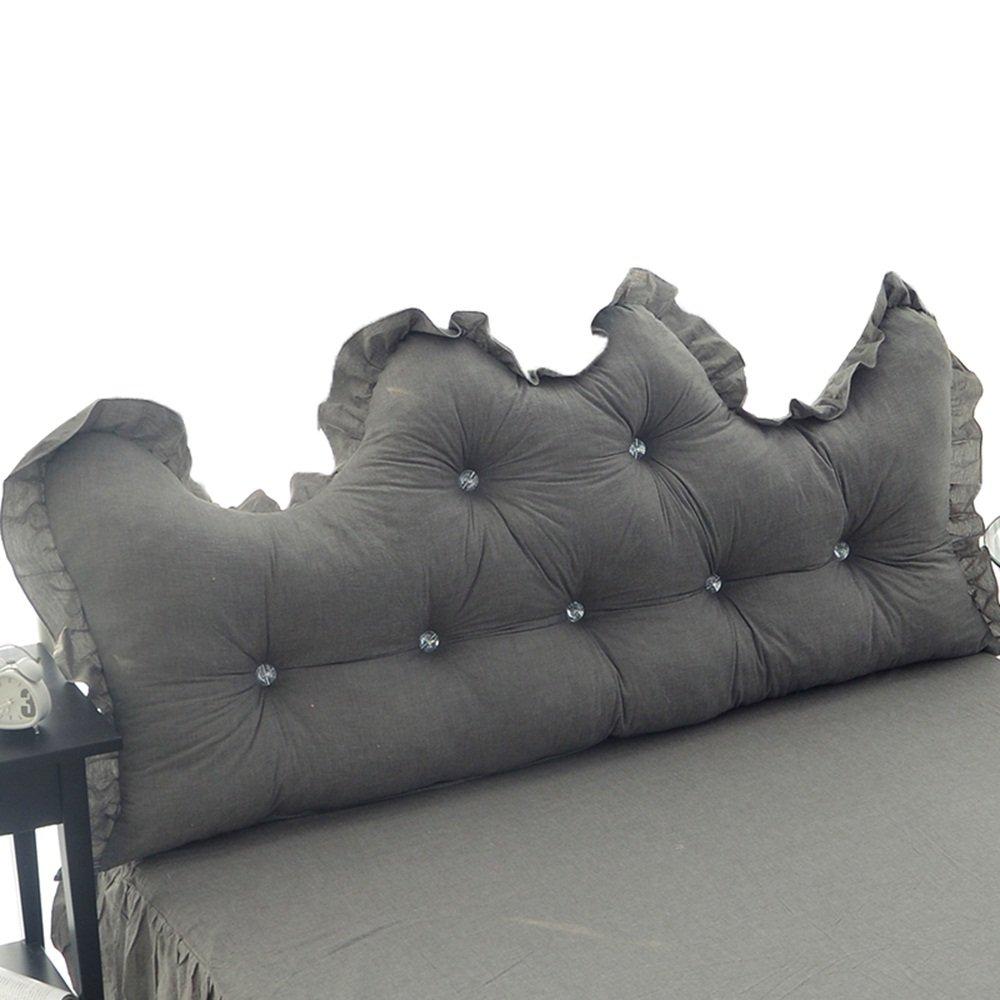 Cotton alone / Korean Princess Feng Shui cotton backrest / cotton lace bedside by / ( Size : 15055cm )