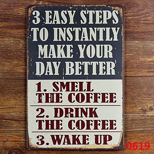 hiusan funny Quotes Make Your Day Better Metal Sign Tin Signs Retro Shabby Wall Plaque Metal Poster Plate 20x30cm Wall Art Coffee Shop Pub Bar Home Hotel Decor
