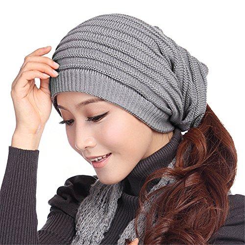 YXLMZ  Invierno mujer Crochet Hat tejidas Beanie caliente mujer CapA hat  bufanda de punto multifuncional f5919e3307a