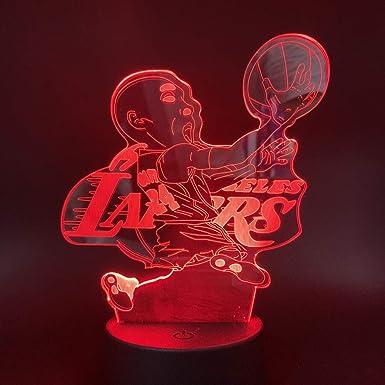 Lámpara de ilusión óptica 3D, jugador de baloncesto Kobe Bryant ...