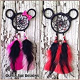 Mickey and Minnie Mouse Dreamcatcher - Rear view Mirror Accessory - FREE SHIPPING