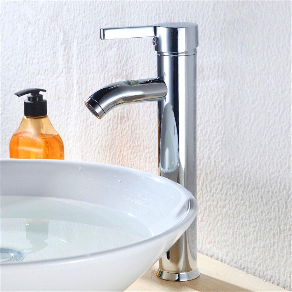 MEIBATH Waschtischarmatur Badezimmer Waschbecken Wasserhahn Küchenarmaturen Warmes und Kaltes Wasser Messing 1 Bohrung Küchen Wasserhahn Badarmatur