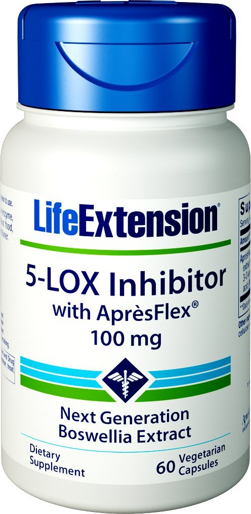 Life Extension 5-LOX Inhibitor with Apres Flex 100 mg, 60 Vegetarian Capsules