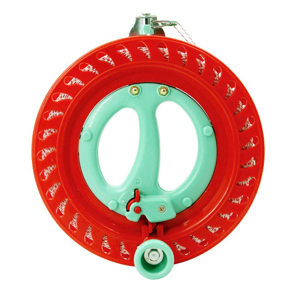 emma kites 7inch Lockable Kite Reel Winder with Durable Dacron Kite Line Red Smooth Rotation Ball Bearing Tool for Single Line Delta Diamond Kite by emma kites