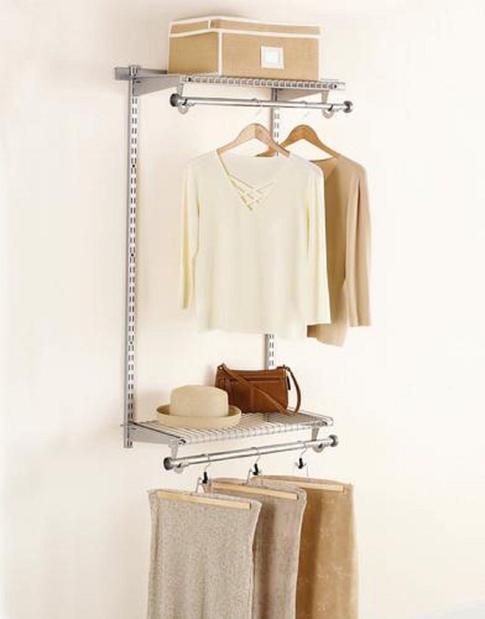 Rubbermaid Configurations 4' Wall Wardrobe Kit -Titanium