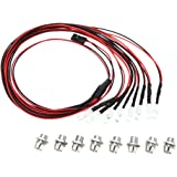RC Car Accessories 8 Led White Color Red Color lights for 1/10 RC Hobby Car