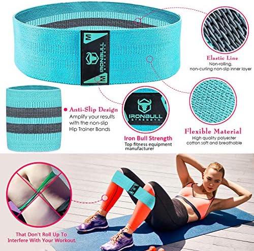 Fitness Resistance Bands Non-slip Hip Circle Legs Thigh Hip Workout BBJ