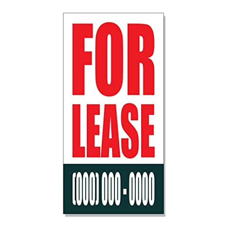 Why Not Lease It Phone Number >> Amazon Com For Lease Custom Phone Number Decal Sticker Retail