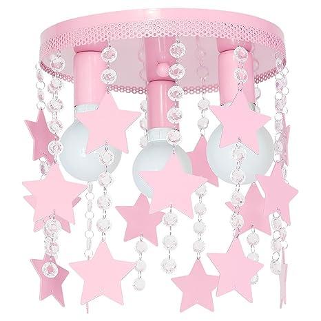 Lámpara de techo modelo Elza3, de acero, con estrellas, de ...