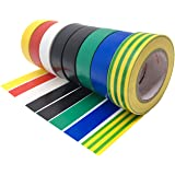 Duck Brand 299020 Colored Electrical Tape 5-Pack of Rolls 1//2-Inch by 20 Feet Multi-Color