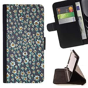"For HTC Desire 626 626w 626d 626g 626G dual sim,S-type Vintage Daisy Wallpaper Primavera"" - Dibujo PU billetera de cuero Funda Case Caso de la piel de la bolsa protectora"