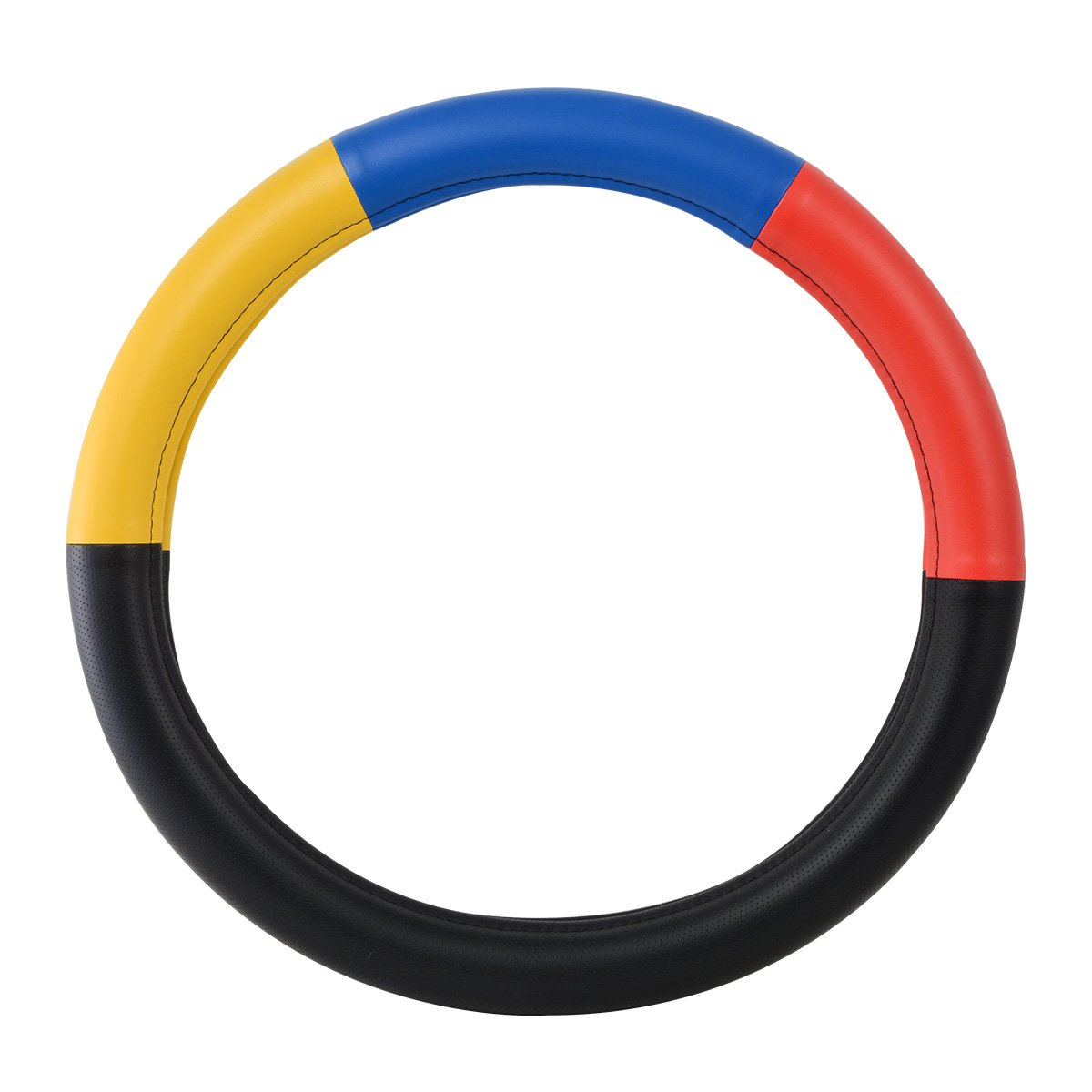 GG Grand General 54029 Half Black w//Yellow Blue and red Steerling Wheel Cover