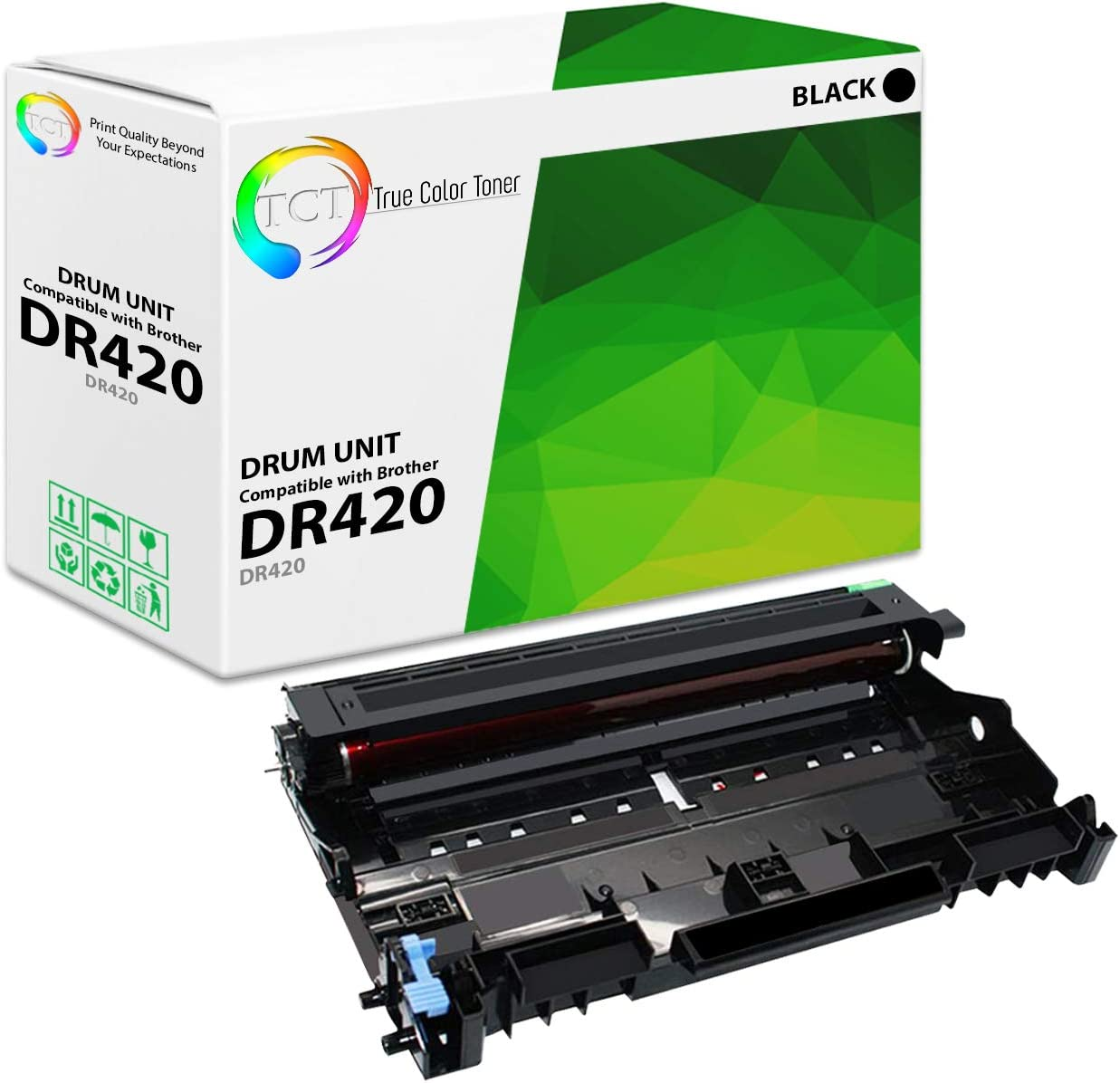 DR-420 for Use with MFC-7365DN USA Advantage Compatible Drum Unit Replacement for Brother DR420 Black,1 Drum
