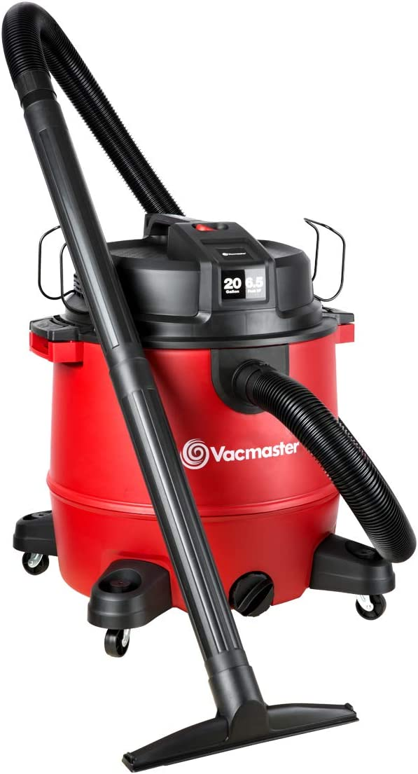 Vacmaster Red Edition VJH2012PF 1101 Heavy-Duty Wet Dry Vacuum Cleaner 20 Gallon 6.5 Peak HP 2-1/2 inch Hose
