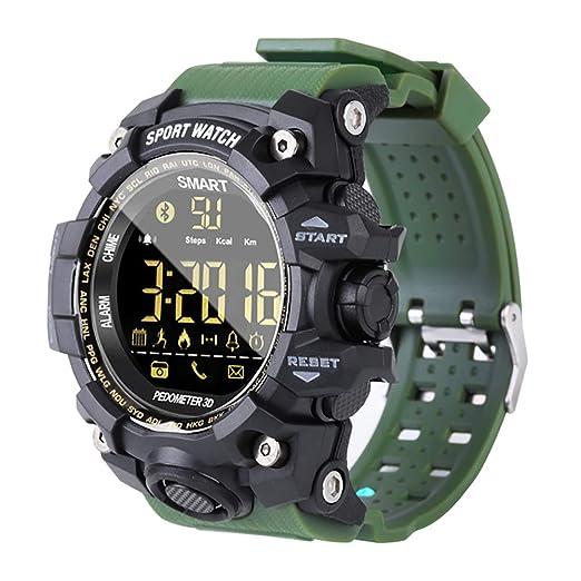 smart watch New Ex16s, Rastreador De Ejercicios, CaloríAs A Prueba De Agua/Contador De Pasos, para El Reloj Deportivo Inteligente Al Aire Libre con, ...