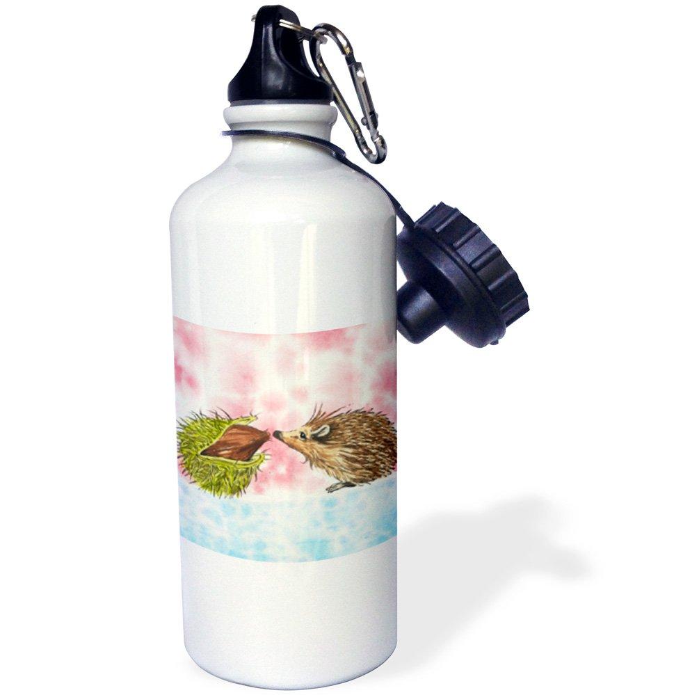 21oz 21 oz Multicolored wb/_216482/_1 3dRose Cute Baby Hedgehog Meeting a Chestnut-Sports Water Bottle