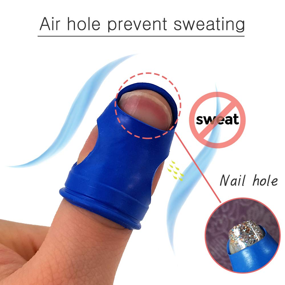 CLAIRLA Filing Collating and Sorting tasks Slip Rubber Gel Finger Han Tip Protector for All Your Counting Rubber Fingers Tips for Money Counting Non Silicone Thimble M-Size