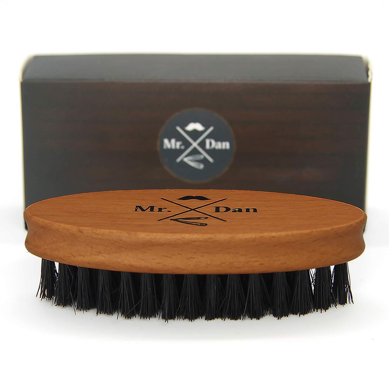 TROP Mr. Dan by Cepillo de Barba, Cepillo cerdas de jabalí, empuñadura Madera de Shima Auerbach&Söhne