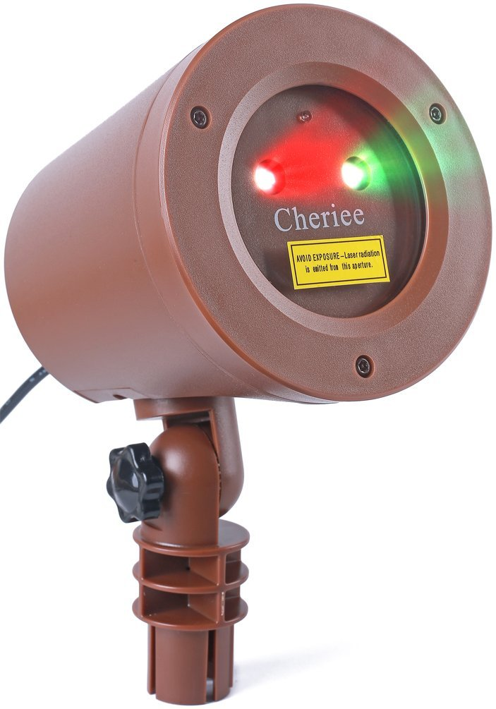Laser Christmas Lights Outdoor Landscape Star String Projector IP65 Plastic Decoration Red Green Laser Light in Bronze by Cheriee