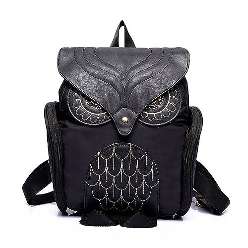 Gossip Boy Pequeño y ligero, diseño de búhos mochila - 3d con diseño de búho CASUAL Daypack para las niñas adolescentes, color Azul, talla XS: Amazon.es: ...