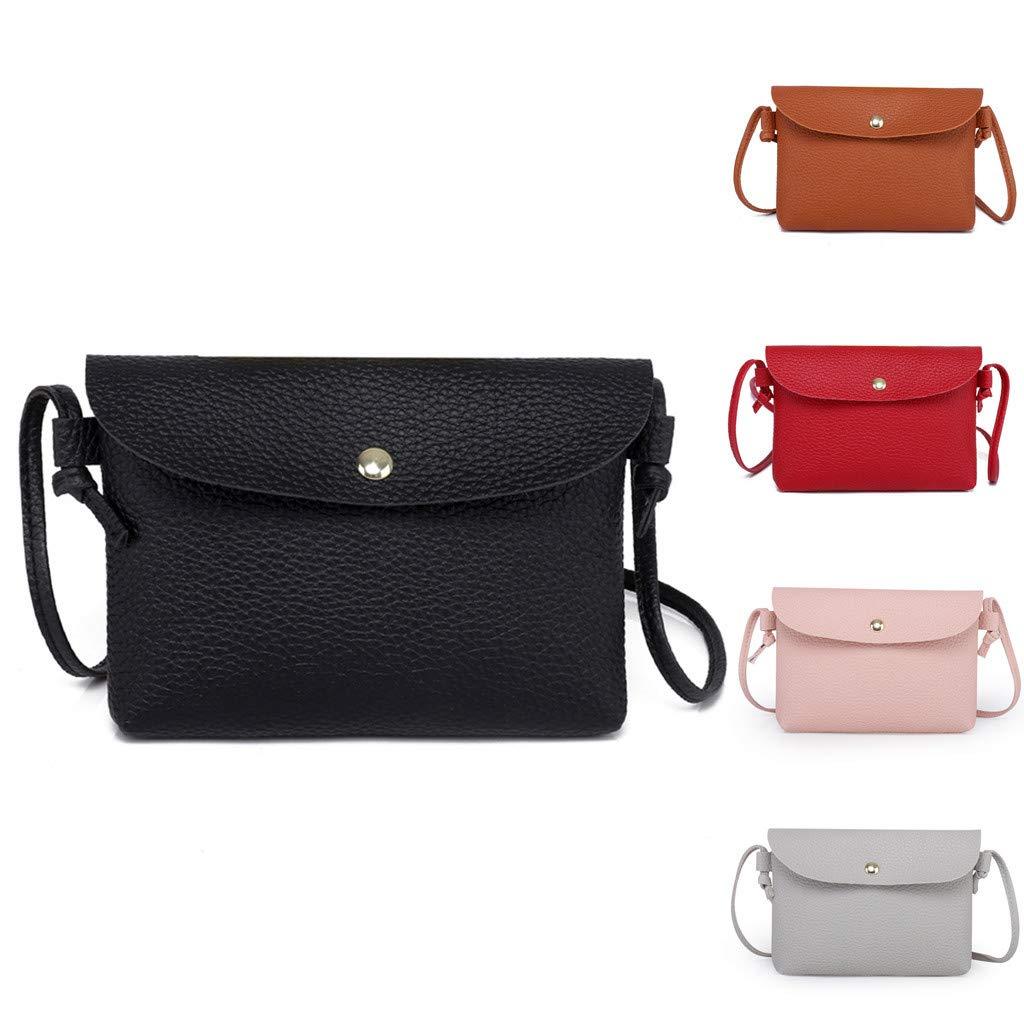 MaxFox Women Leather Crossbody Bag Ladies Designer Hasp Cell Phone Shoulder Bags Messenger Coin Satchel Handbag (Gray) by MaxFox (Image #4)