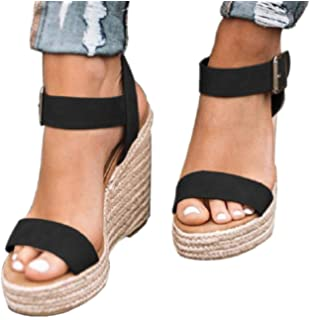 09c61a5da8125 Amazon.com: Women Espadrille Sandals Suede Studded Two Part Sandals ...