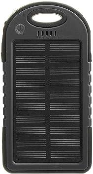Batería Externa Solar Batería de Emergencia Cargador Solar a Prueba de Agua Funda,Mini caja de