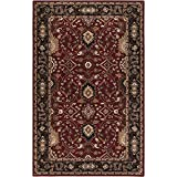 Surya Caesar CAE-1031 Classic Hand Tufted 100% Wool Wine 2'6'' x 8' Traditional Runner