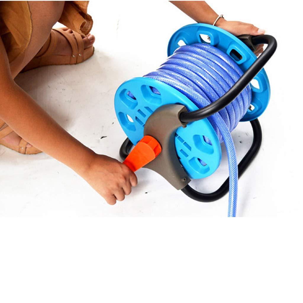 Homyl Plantaci/ón al Aire Libre Azul de Manguera de Agua de Tenedor de Carro Carrete de Manguera de Jard/ín Port/átil